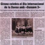 """Girona celebra el Dia Internacional de la Dansa amb """"Dansem 3"""" (EL PUNT)"""