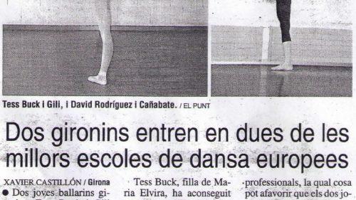 Dos gironins entren en dues de les millors escoles de dansa europees (EL PUNT)